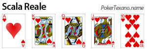 Scala reale poker texas hold'em