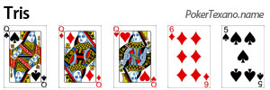 Tris poker texas hold'em